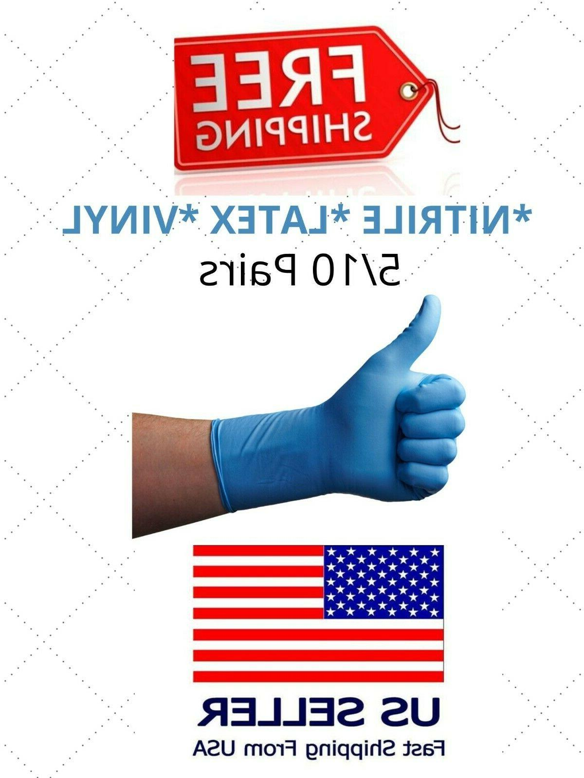 10 20 100 pcs nitrile latex gloves