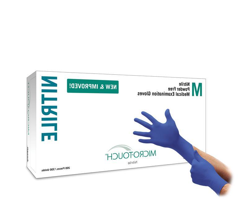*1-Box* Micro-Touch Powder-Free Nitrile Medical Examin 200 G