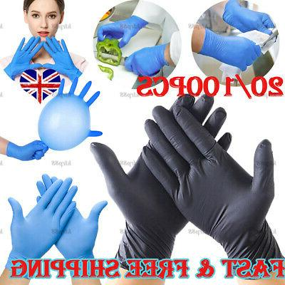 100 black clear blue nitrile gloves powder