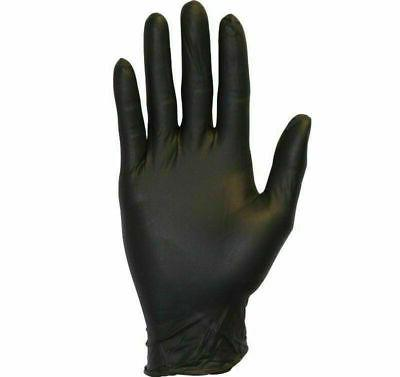 Black Nitrile Powder-Free Gloves Disposable 4 Mil Large Medi