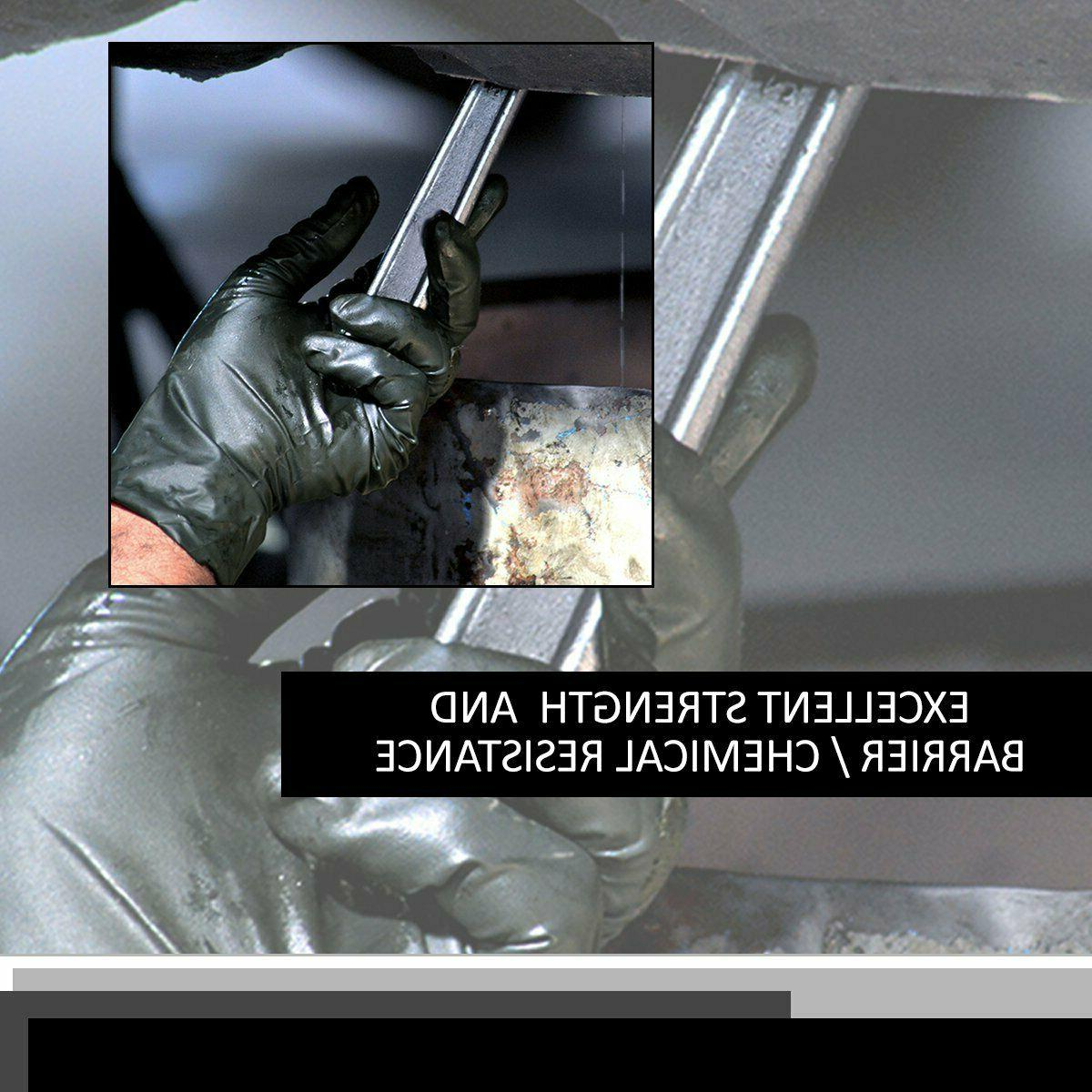 Black Gloves Disposable Mechanic Exam Powder &