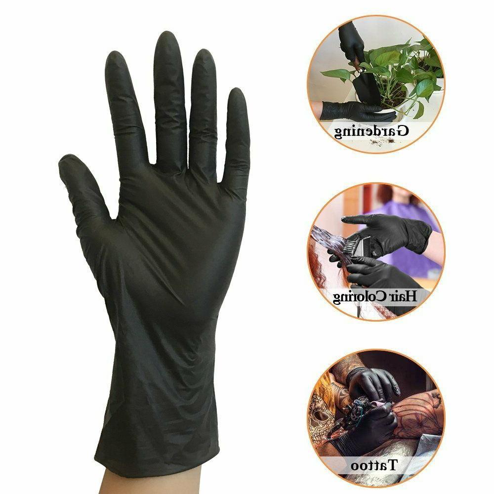 Black Nitrile Mechanic Food Exam Powder