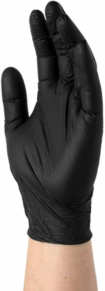 Medical BLACK Nitrile Exam Glove Size L - 4 box x 100 Glove