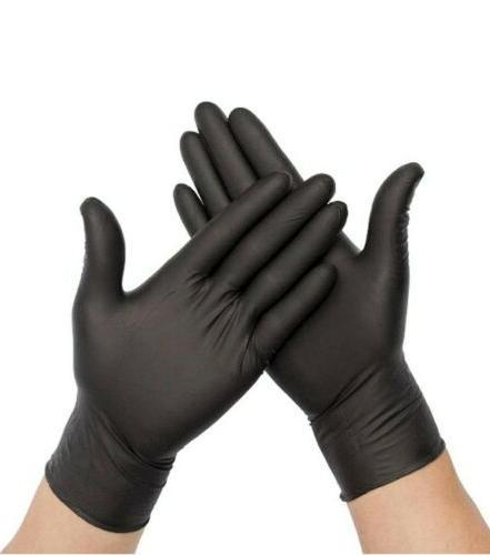 100 Black Nitrile 6 Multi-purpose Gloves L