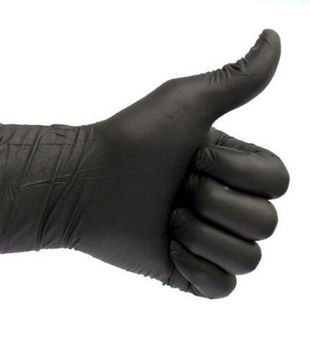 100 Black Nitrile 6 Mil Heavy-Duty Multi-purpose Gloves M L