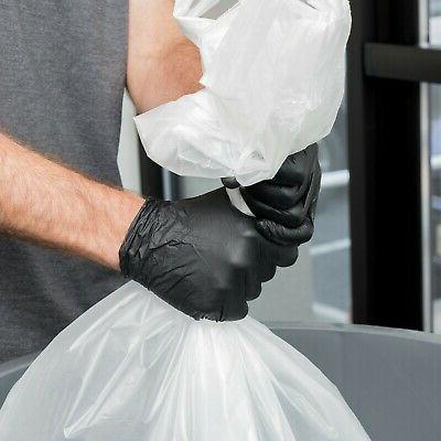 100 Black Nitrile Mil Heavy-Duty Gloves -