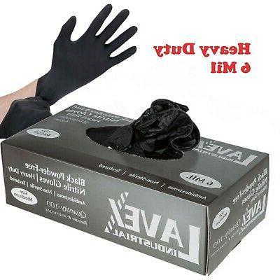 100 ct powder free black nitrile 6