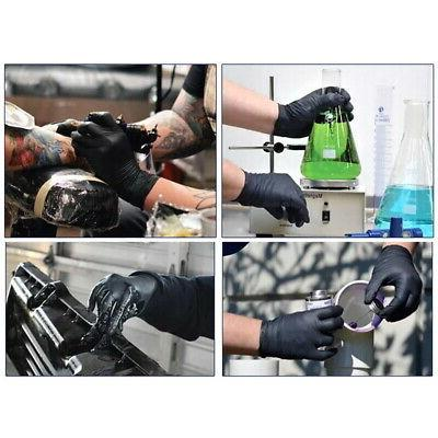 100* Gloves Medical Exam Rubber Black