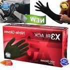 100 Disposable Nitrile Gloves Mechanic Slip Resistant Latex