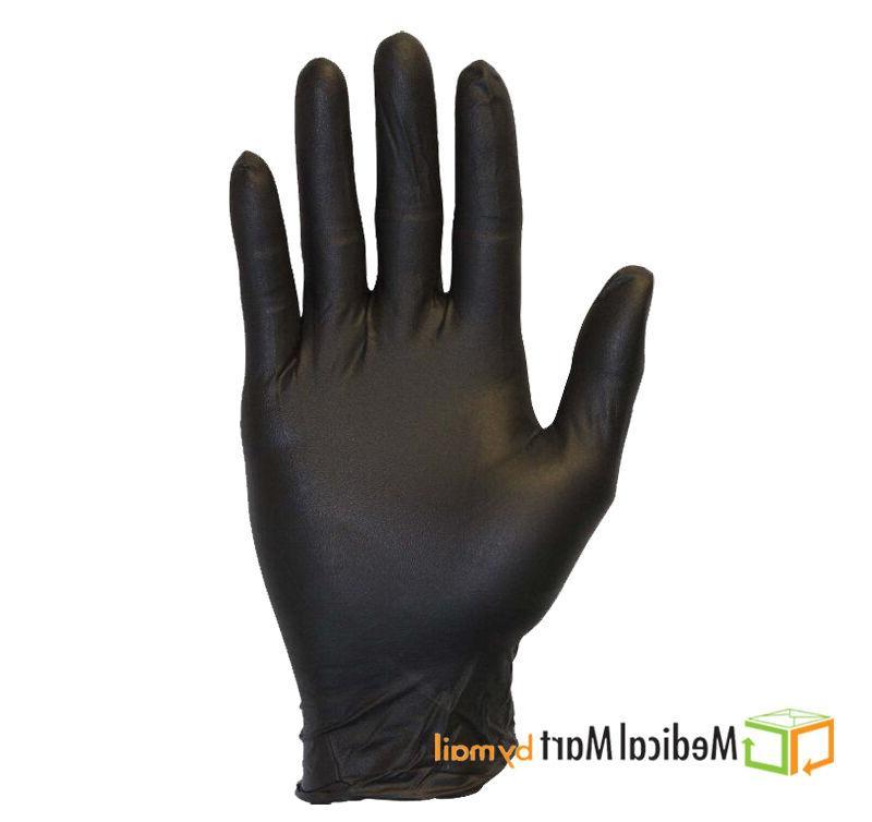 100 Disposable Nitrile Medical Exam Gloves Black 5