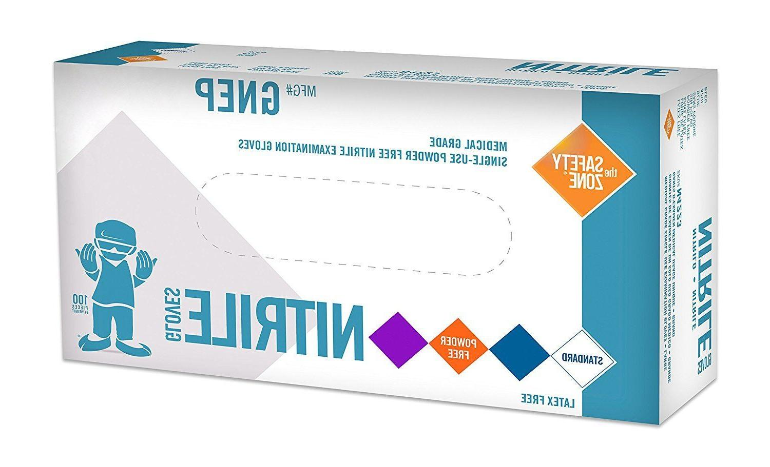 100 nitrile disposable gloves by powder free