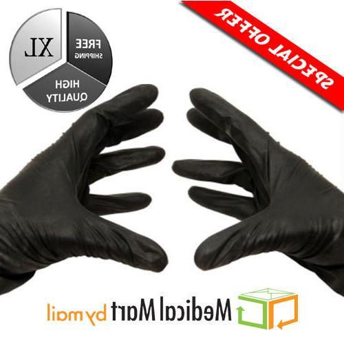 100 nitrile disposable gloves powder