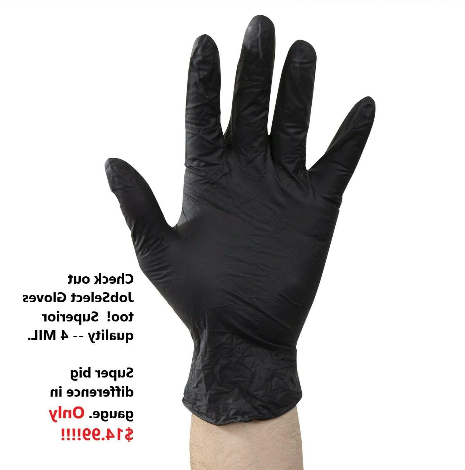 100-piece Black Gloves, Latex by