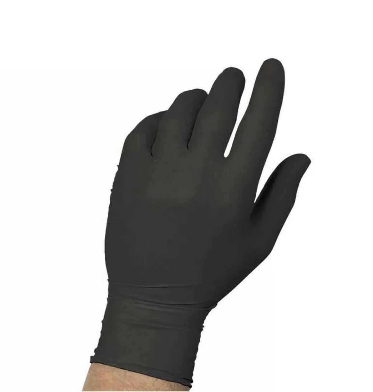 100 piece black nitrile rubber gloves latex