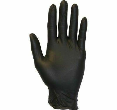 Black Nitrile Gloves 4 Mil Powder-Free Medical Exam Size: La