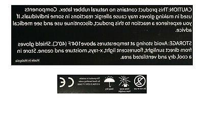 100 Pack Black Nitrile Powder Free Rubber Duty Large