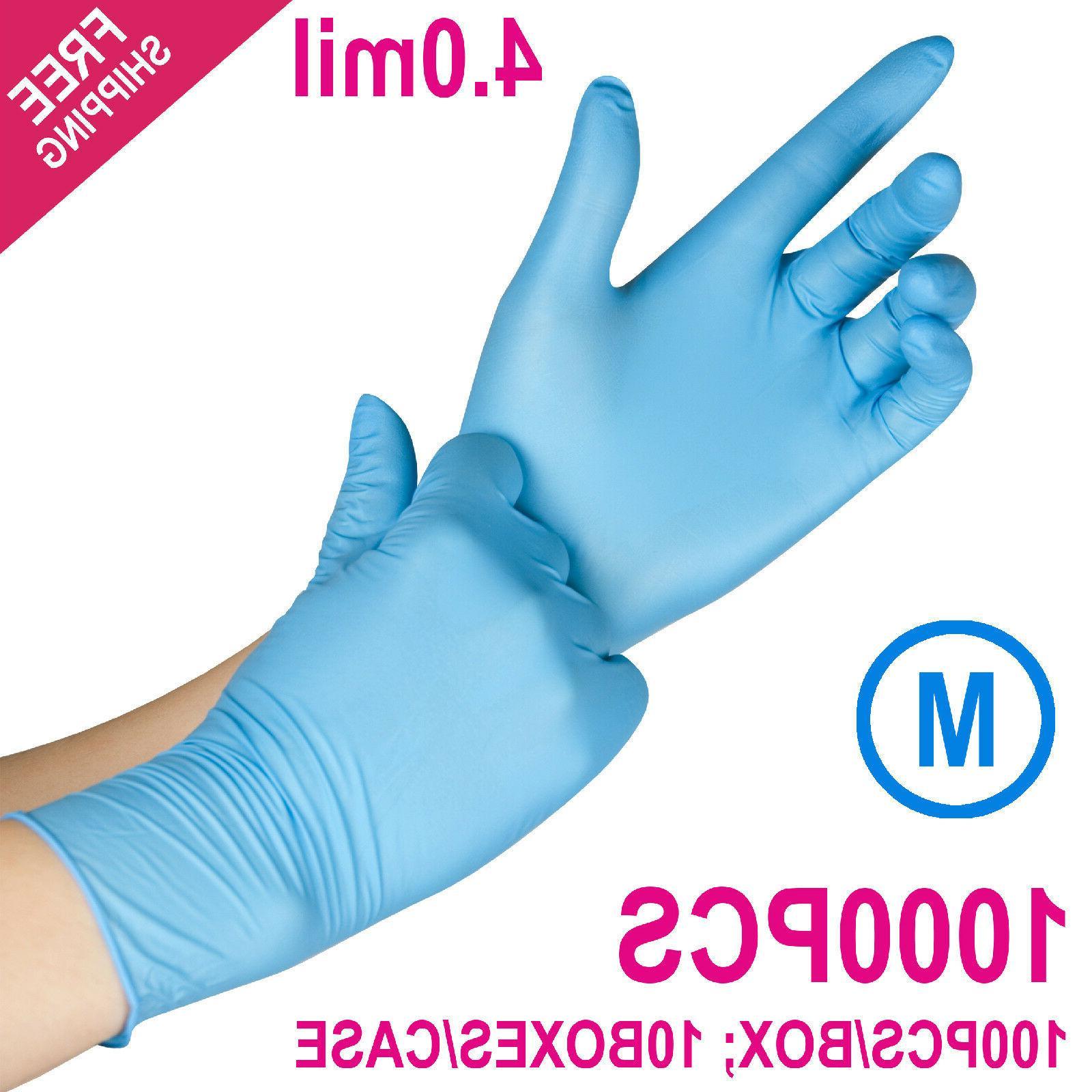 1000/Case Disposable Powder-Free Nitrile Medical Exam  Glove