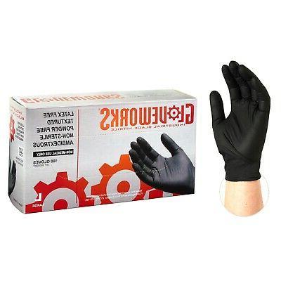 1000 cs gloveworks binpf black nitrile latex