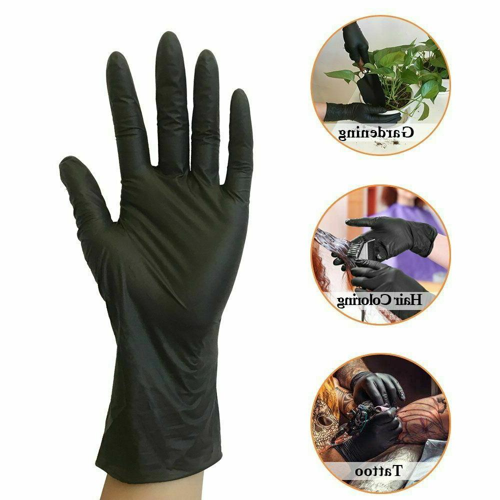 1000 Disposable Gloves Black M XL Slip & Latex Free