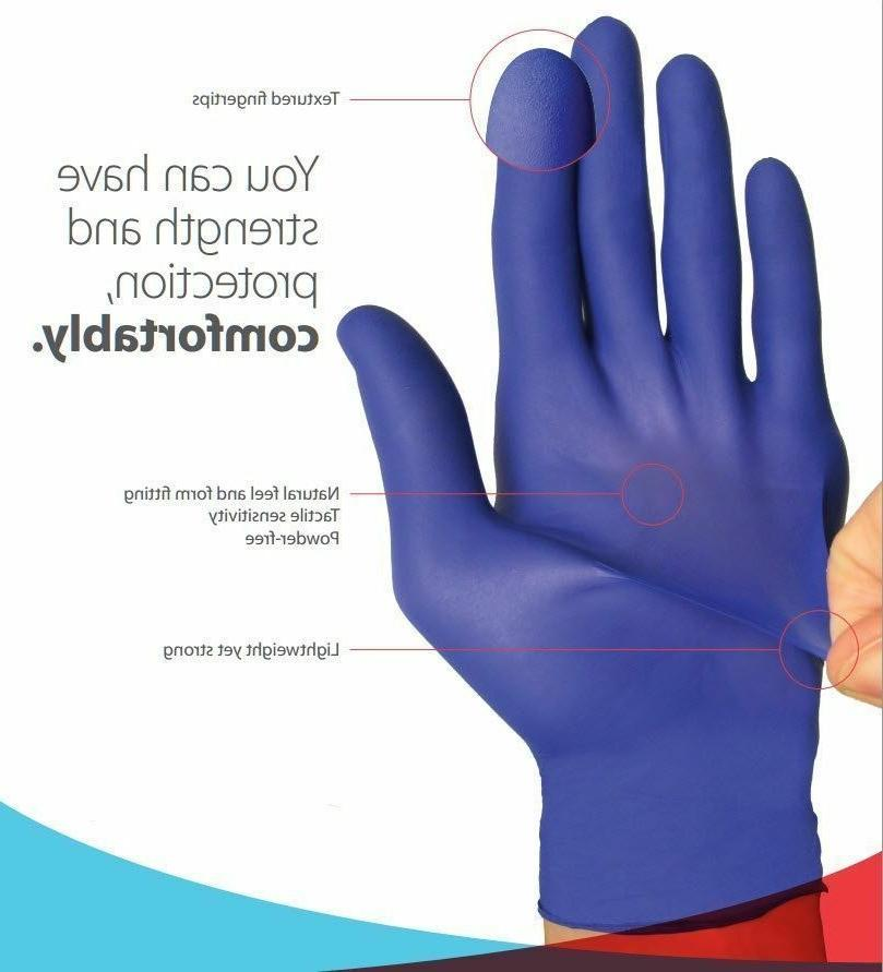 Ambitex Nitrile Exam Gloves Powder Free Strong Non Latex 100