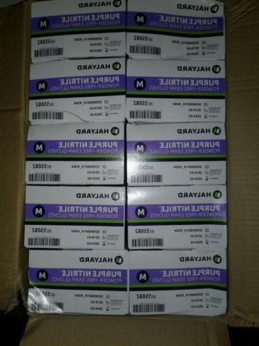 1000 purple nitrile exam gloves m