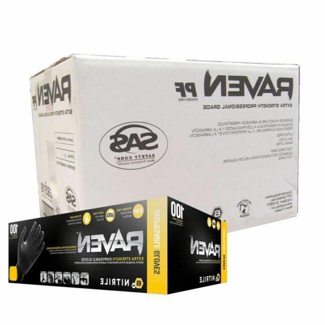 1000 sas safety powder free disposable black