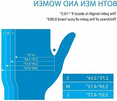 1000x Blue Nitrile Gloves mil Powder Medium