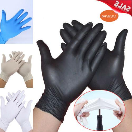 100pc black white rubber disposable nitrile gloves