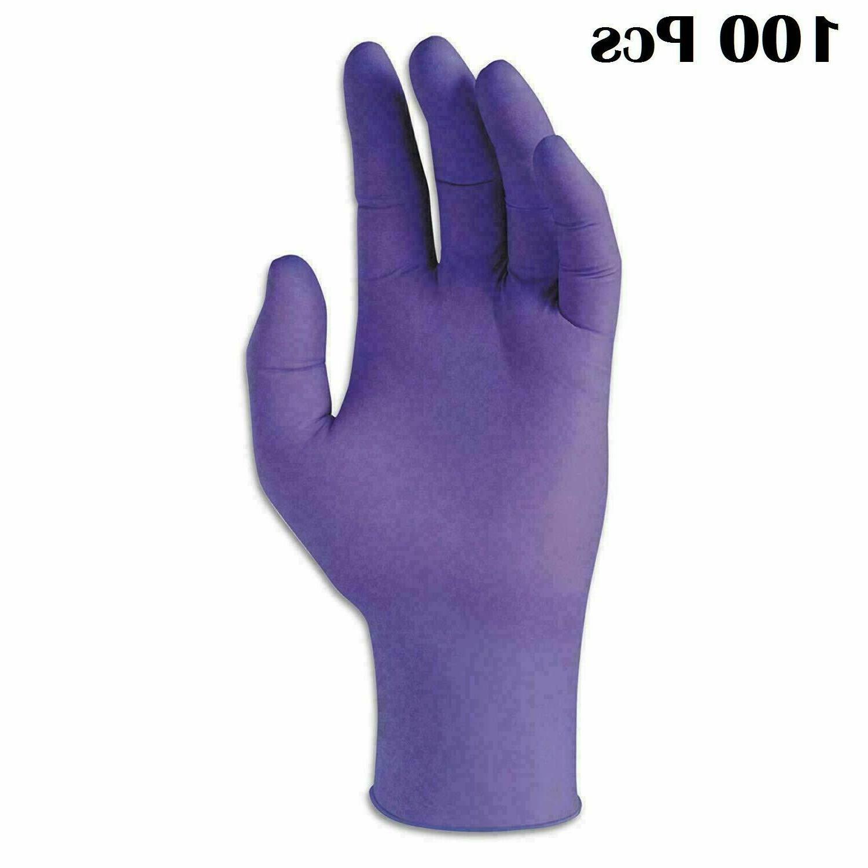 100pcs premium nitrile purple rubber gloves powder