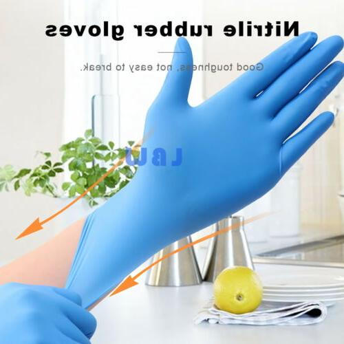 100Pcs Premium Nitrile Rubber Gloves Powder