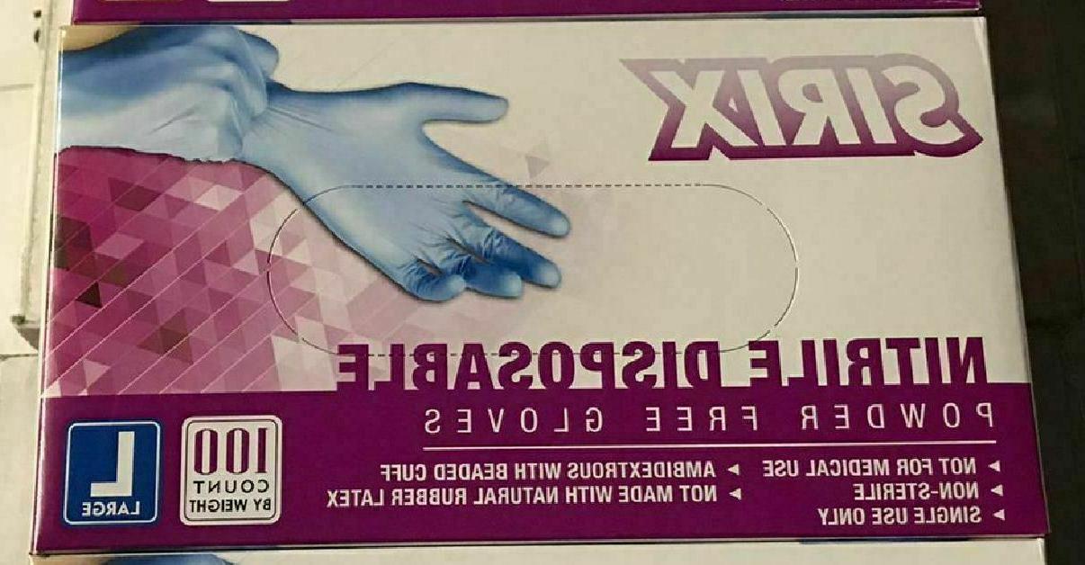 100Pcs Nitrile Purple Rubber Gloves Powder Non Latex