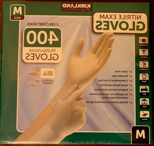 2 pack of nitrile exam gloves 400
