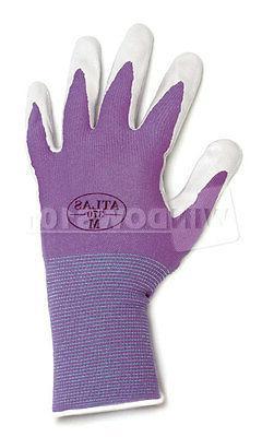 1 Pair Purple Atlas Showa 370 Nitrile Gloves Garden Auto Wor