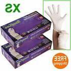 200 2boxes white nitrile disposable