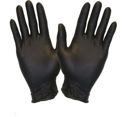 100 Black Gloves Nitrile Rubber Large