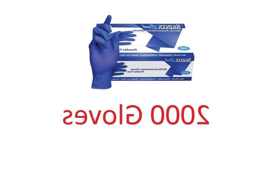 2000 SKINTX COOL Nitrile Powder Gloves Medium Tattoo