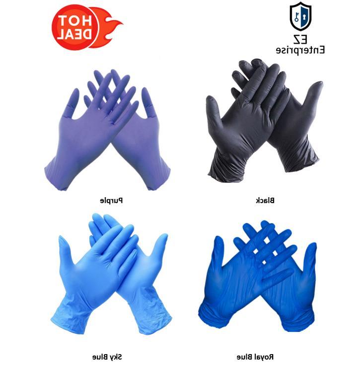 20pc 50pcs 100pcs nitrile rubber gloves powder