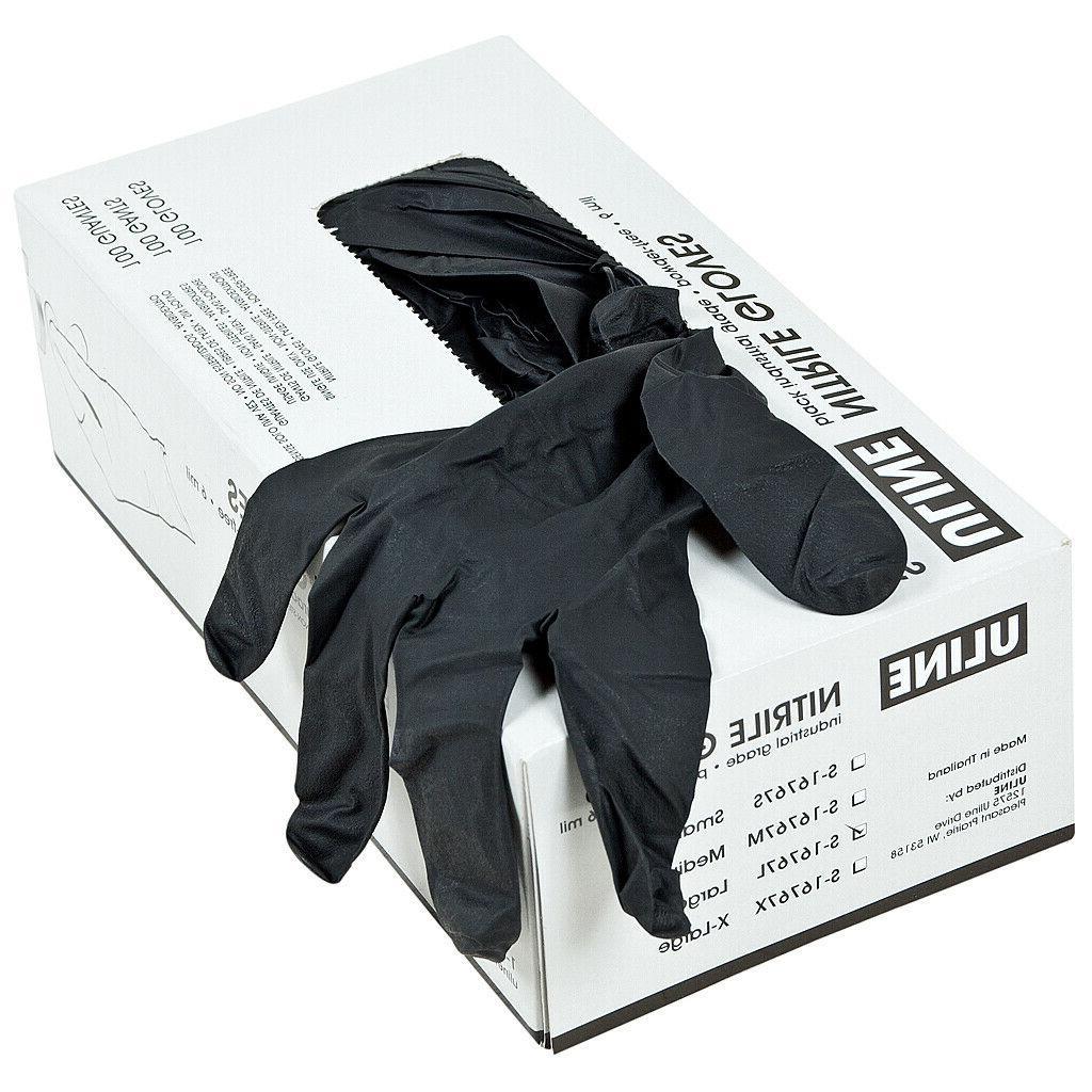 BLACK free Gloves PVC 100