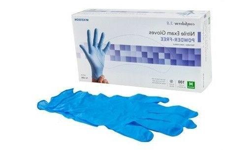 3 8 nitrile exam gloves medium powder