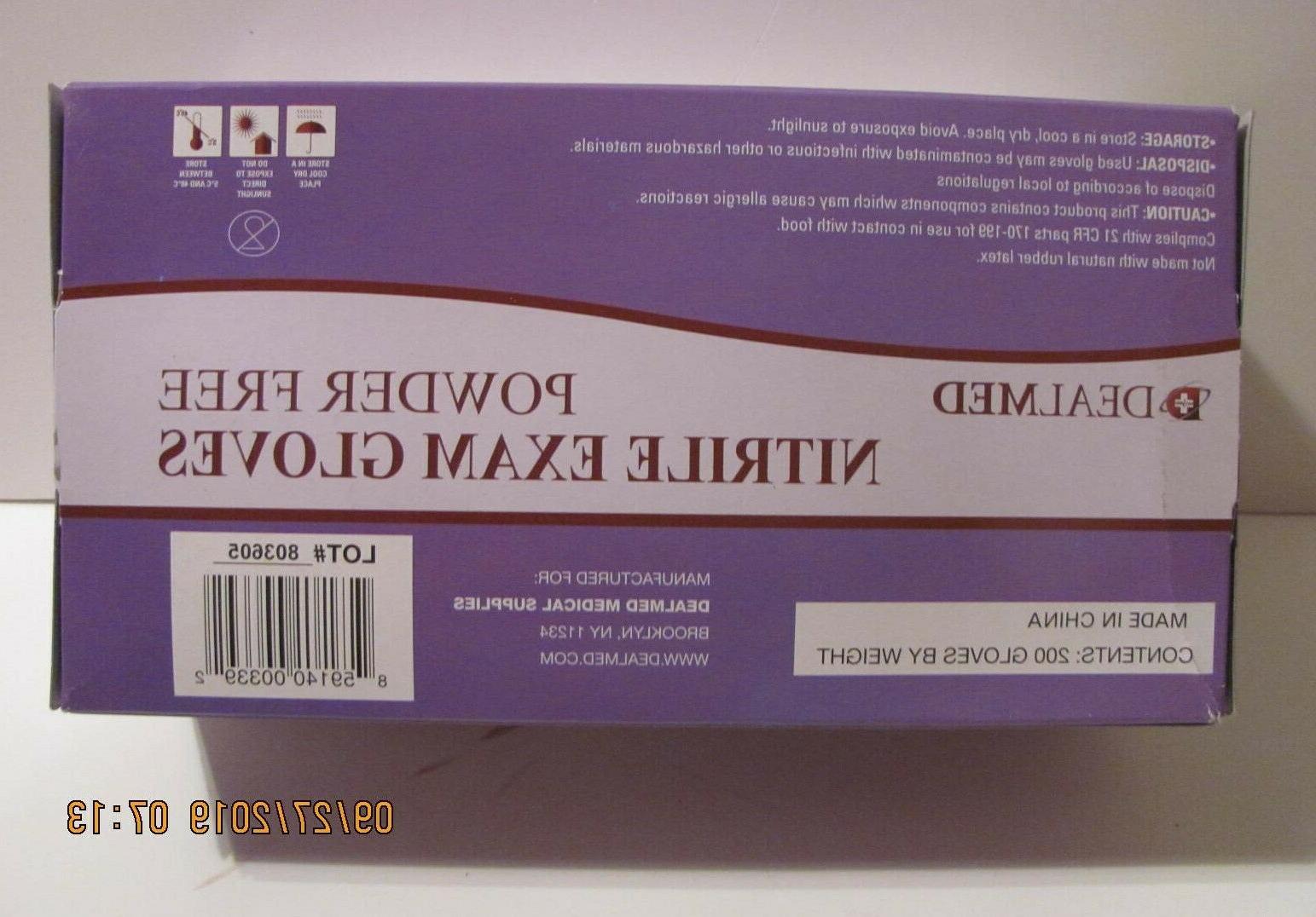 3-Pack Dealmed Nitrile Exam Gloves 200ct - Small