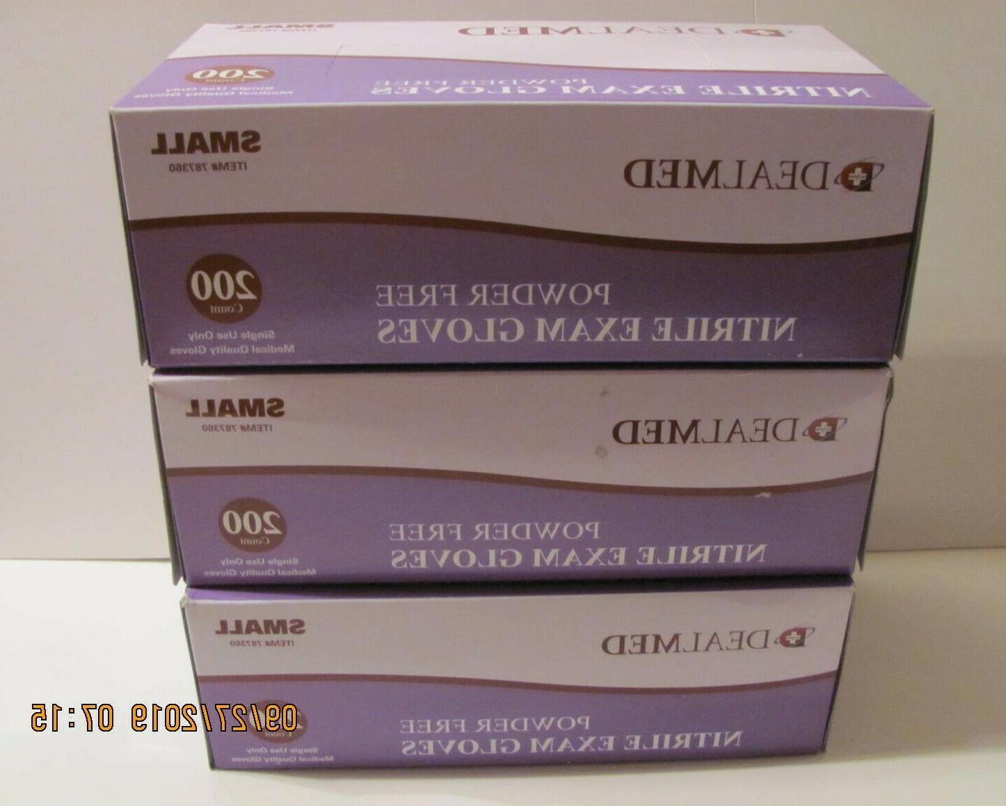 3 pack nitrile medical exam gloves latex