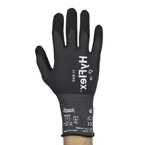 3 pair Ansell HyFlex 11-840 Foam Nitrile Gloves Size 10