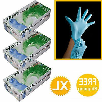 300 /3boxes Nitrile Gloves Powder Free