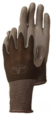 4 Pack Atlas Glove 370BBK Atlas Nitrile Tough Gloves - Mediu