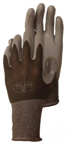 4 Pack Atlas Glove 370BBK Atlas Nitrile Tough Gloves - Mediu