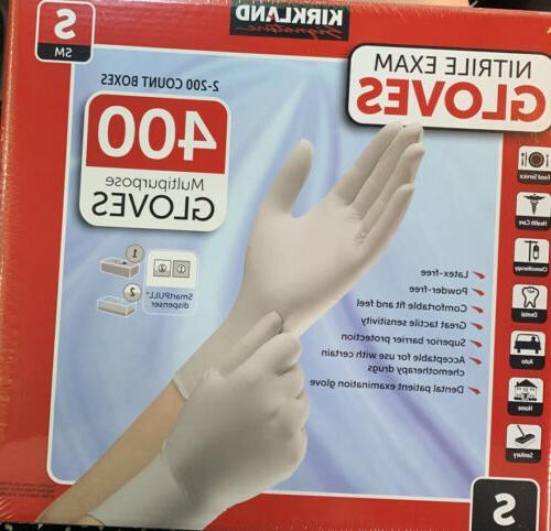 400 kirkland multipurpose nitrile exam gloves small