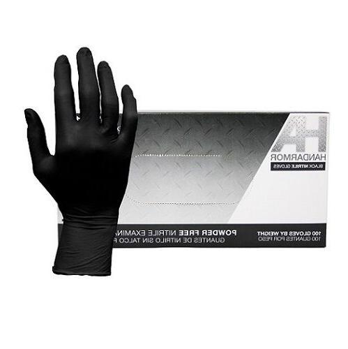 Black Nitrile Gloves, Powder-Free, 5.0 Mil, Hand Armor, 100/