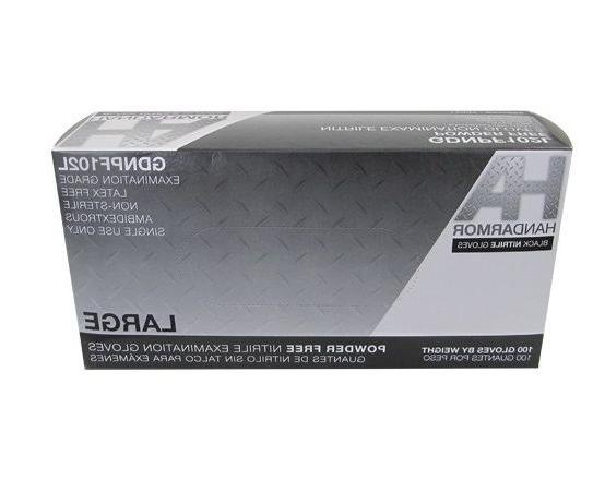 Black Gloves, Powder-Free, 5.0 Mil, Armor, 100/Box, 10