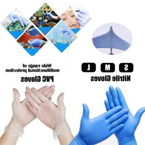 50 100 pcs nitrile gloves powder latex