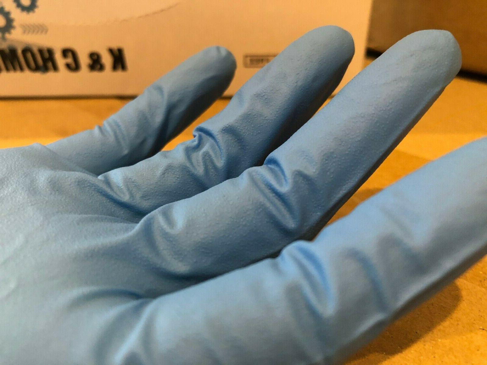 6 MIL 50/Box Nitrile Gloves Blue Latex/Viny